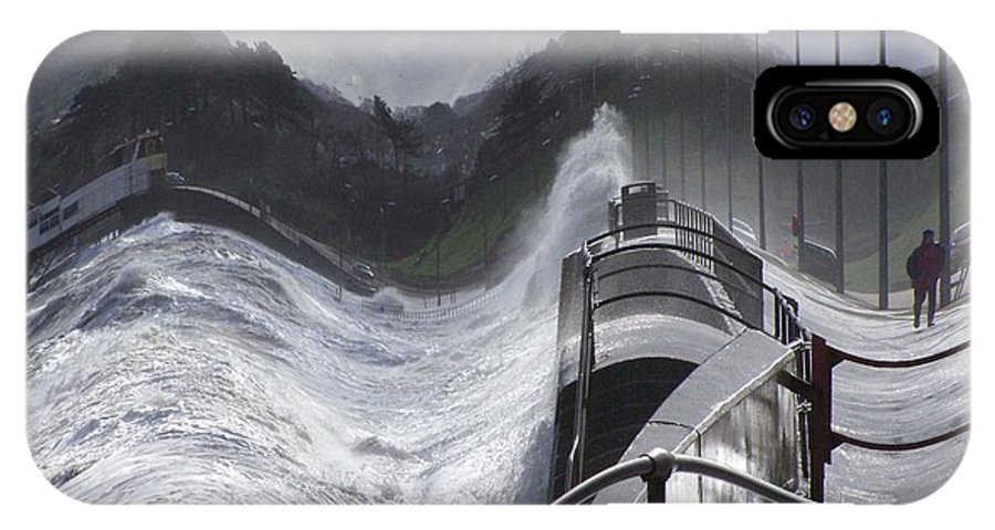 Waves IPhone X Case featuring the photograph Waves by Christopher Rowlands