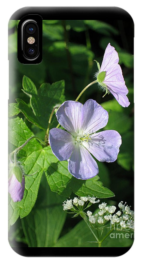 Wildflower IPhone X Case featuring the photograph Wild Geranium by Ann Horn