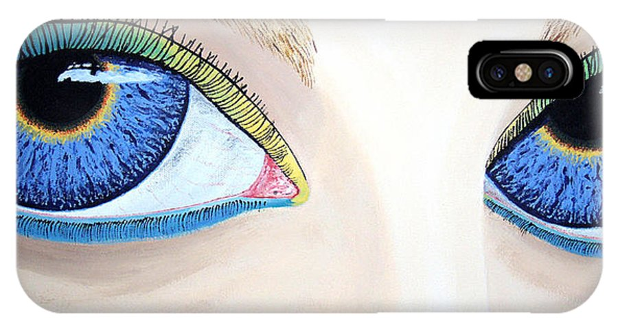 Eye Catching IPhone X Case featuring the painting Window I by Dean Stephens
