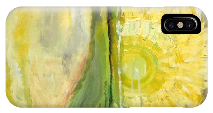 Yellow IPhone X Case featuring the painting Wine or Nature by Carol P Kingsley
