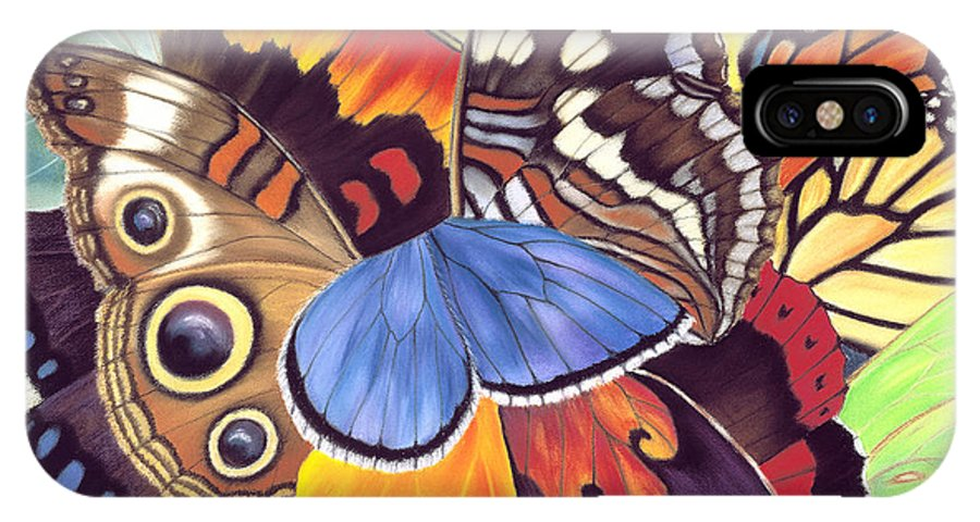 Butterflies IPhone X Case featuring the painting Wings Of California by Lucy Arnold