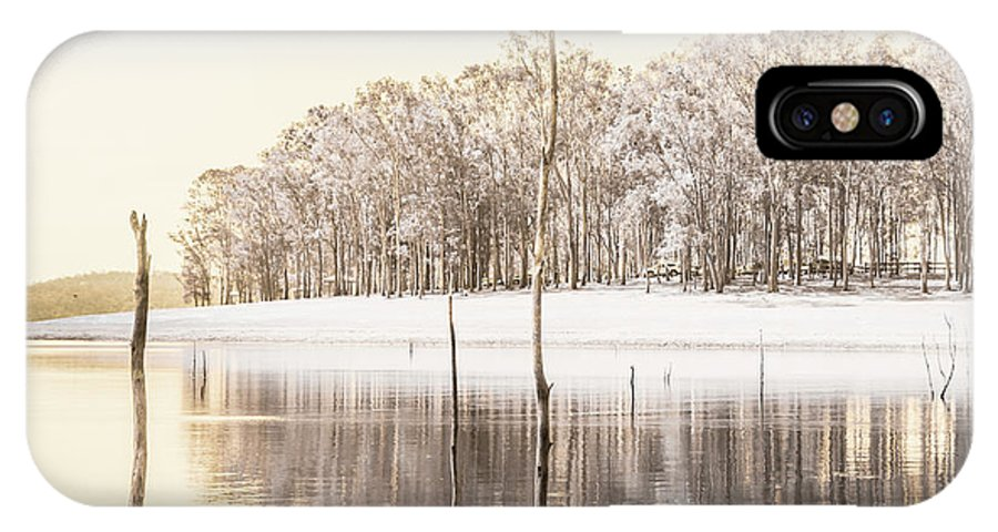 Landscape IPhone X Case featuring the photograph Winters Edge by Jorgo Photography - Wall Art Gallery
