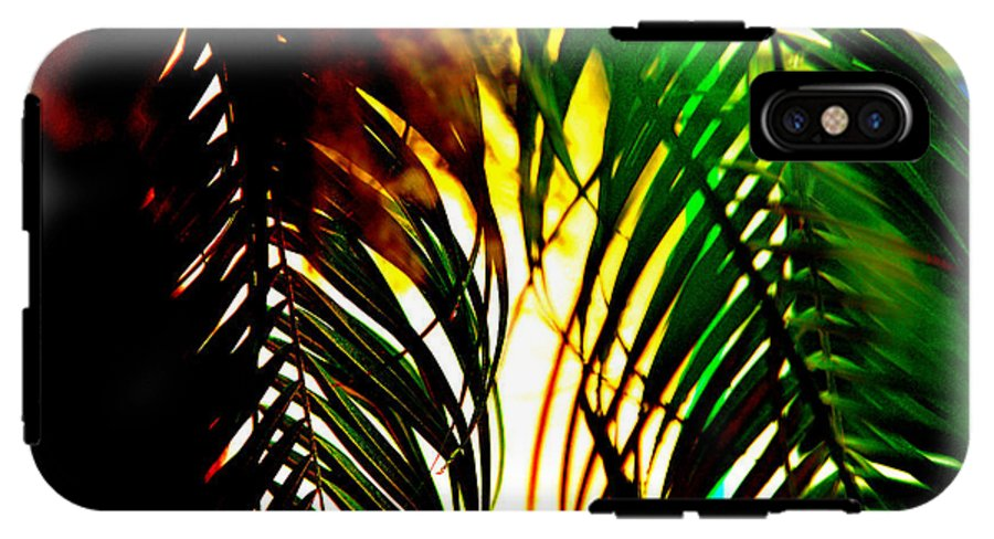 Florida IPhone X Tough Case featuring the photograph Palms Abstract Flow by Michelle Miller
