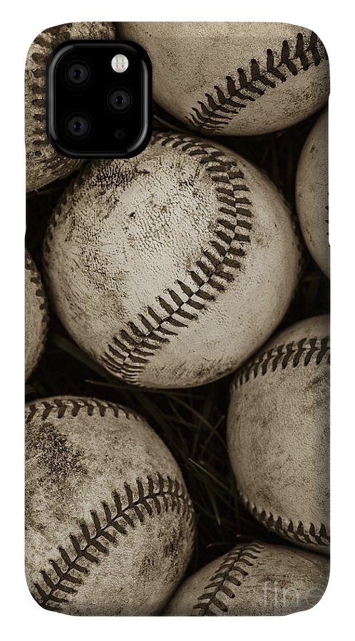 Baseball IPhone Case featuring the photograph Baseballs by Diane Diederich