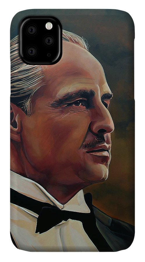 Marlon Brando IPhone Case featuring the painting Marlon Brando by Paul Meijering