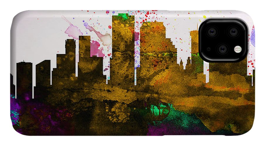 IPhone Case featuring the painting New Orleans City Skyline by Naxart Studio