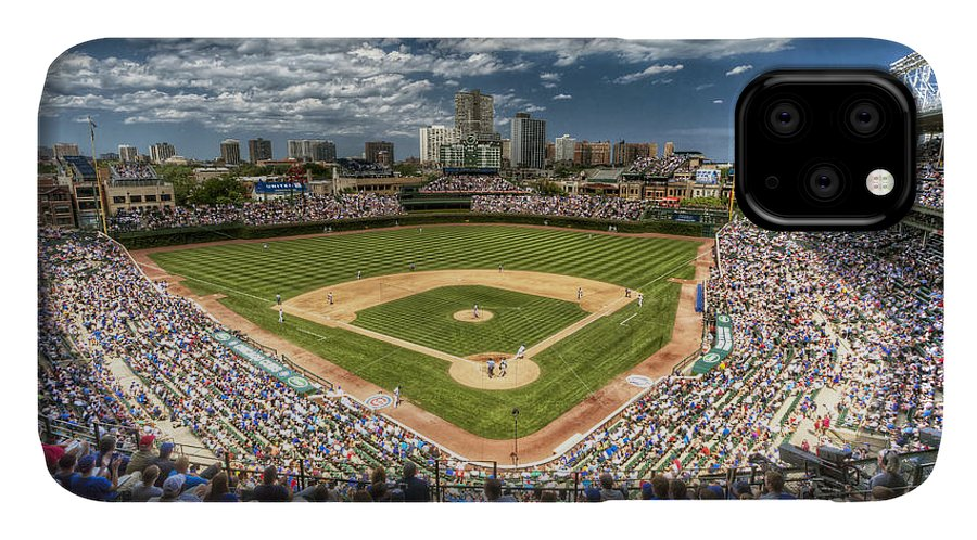 Wrigley IPhone 11 Case featuring the photograph 0234 Wrigley Field 0234 by Steve Sturgill