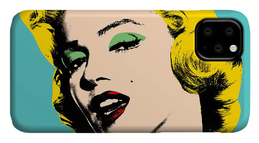Pop Art IPhone Case featuring the digital art Andy Warhol by Mark Ashkenazi