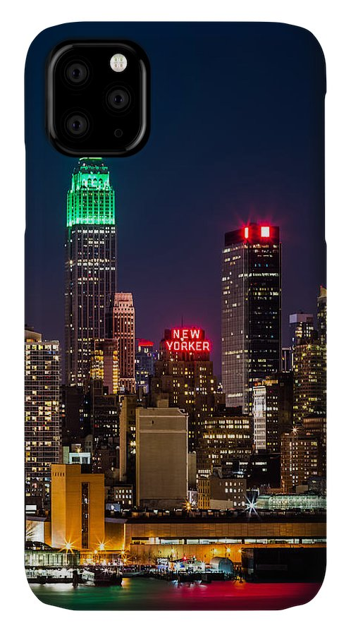 Ireland IPhone Case featuring the photograph Empire State Building On Saint Patrick's Day 1 by Mihai Andritoiu