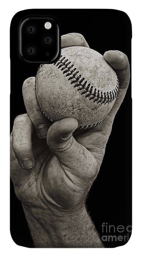 Baseball IPhone Case featuring the photograph Fastball by Diane Diederich