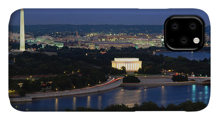 Photography IPhone Case featuring the photograph High Angle View Of A City, Washington by Panoramic Images