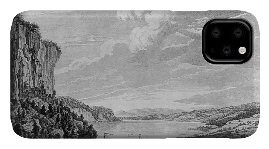 1761 IPhone Case featuring the drawing New York Hudson River by Granger