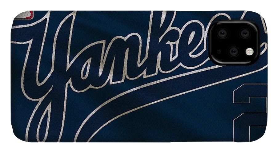 Yankees IPhone 11 Case featuring the photograph New York Yankees Derek Jeter 1 by Joe Hamilton
