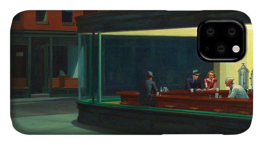 Edward Hopper IPhone Case featuring the photograph Nighthawks by Edward Hopper
