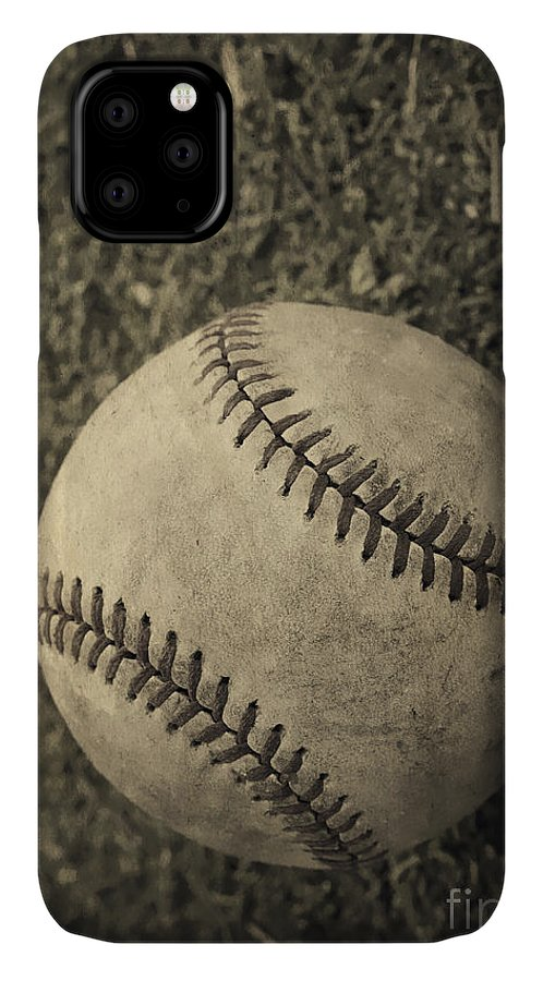 Memory IPhone 11 Case featuring the photograph Old Baseball 1 by Edward Fielding