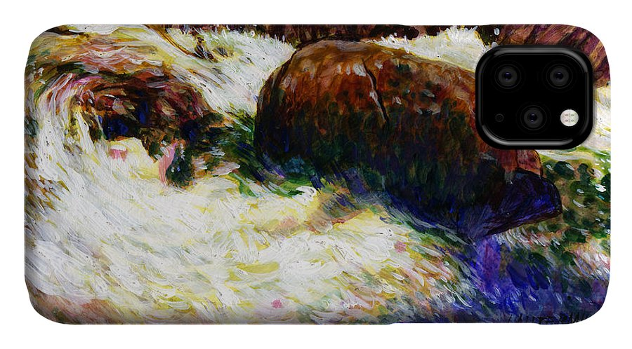 Mountain Stream IPhone Case featuring the painting Stream Somewhere in the Rockies by John Lautermilch