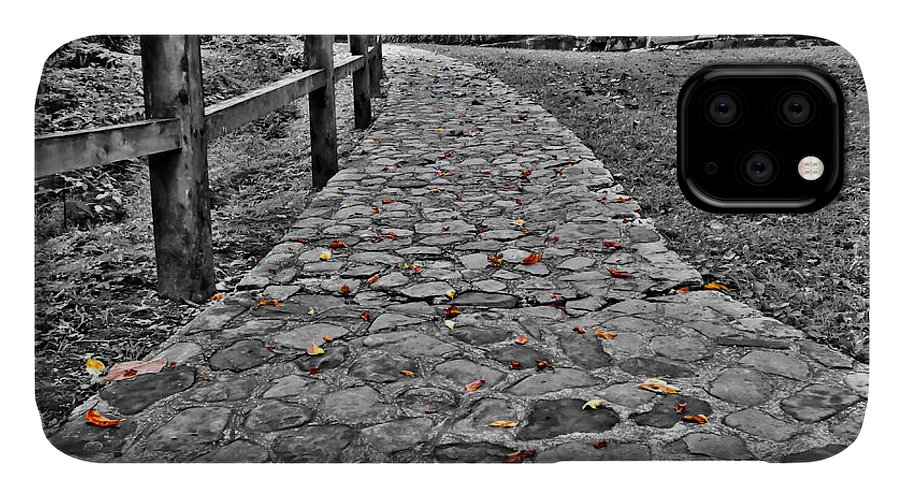 Ahead IPhone Case featuring the photograph The Stone Path by Bob Mintie