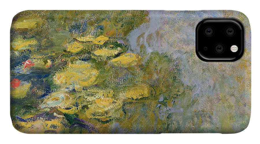 Impressionist IPhone 11 Case featuring the painting The Waterlily Pond by Claude Monet