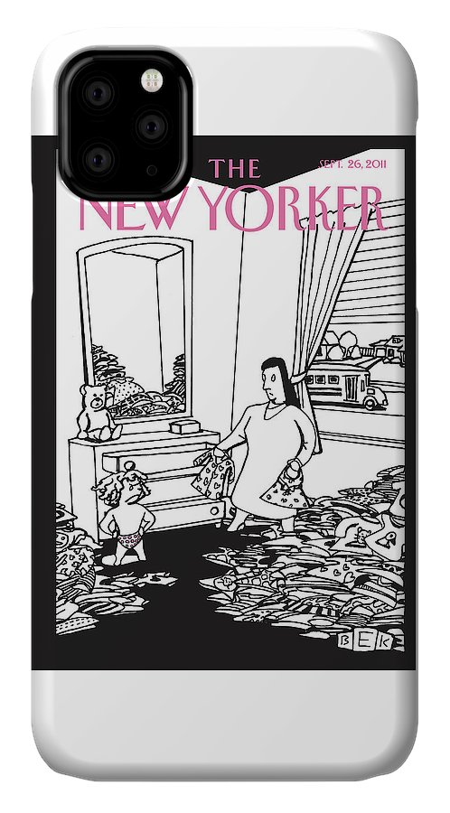 Clothes IPhone Case featuring the painting New Yorker September 26th, 2011 by Bruce Eric Kaplan