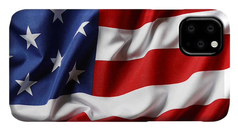 Flag IPhone Case featuring the photograph Usa Flag No.52 by Les Cunliffe