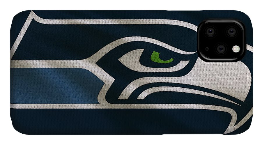 Seahawks IPhone Case featuring the photograph Seattle Seahawks Uniform by Joe Hamilton