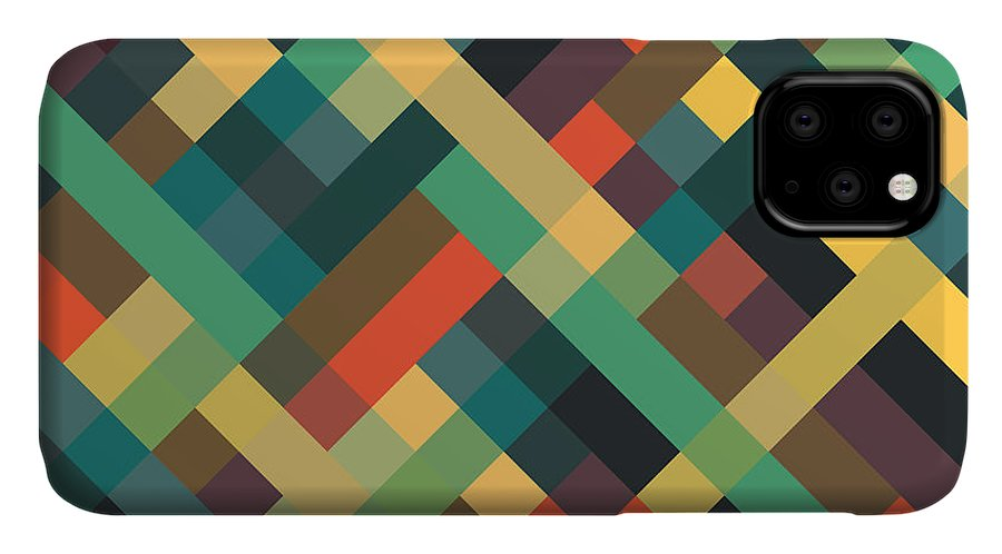 Abstract IPhone Case featuring the digital art Geometric by Mike Taylor