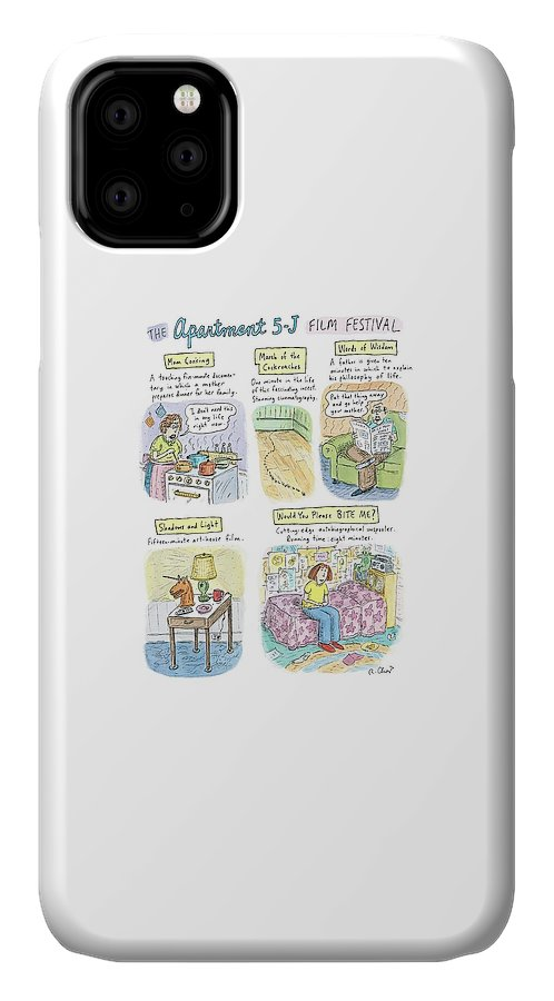 Movies IPhone Case featuring the drawing New Yorker September 18th, 2006 by Roz Chast