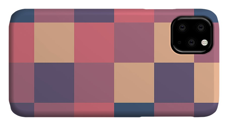 Pixel IPhone Case featuring the digital art Pixel Art by Mike Taylor