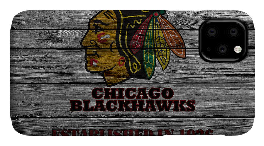 Blackhawks IPhone Case featuring the photograph Chicago Blackhawks by Joe Hamilton