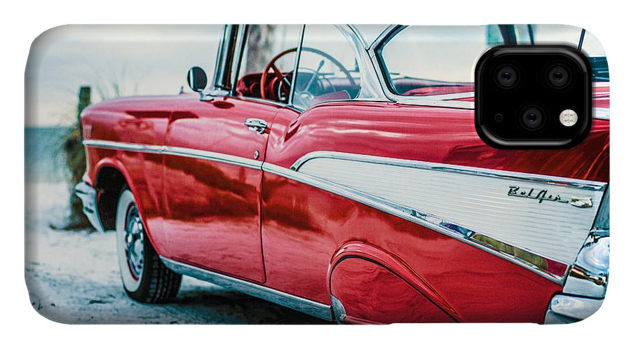 1957 IPhone 11 Case featuring the photograph 1957 Chevy Bel Air by Edward Fielding
