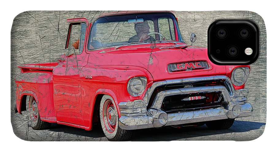 Rust IPhone Case featuring the photograph 1957 Gmc Pickup 1957 by Steve McKinzie