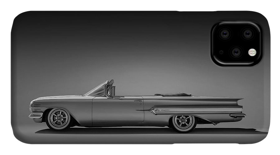 Car IPhone Case featuring the digital art 1960 Impala Convertible Coupe 1960 by Douglas Pittman