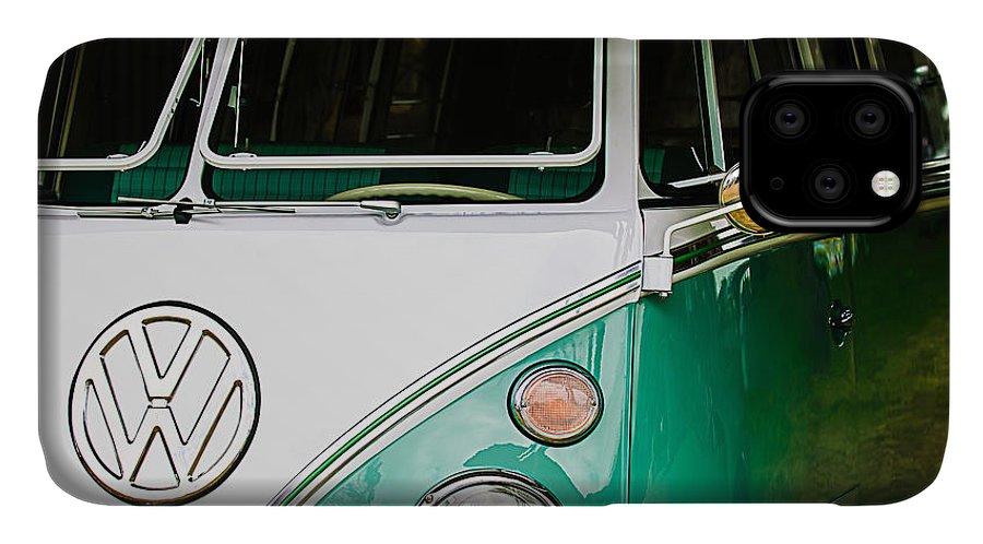 1964 Volkswagen Vw Samba 21 Window Bus IPhone 11 Case featuring the photograph 1964 Volkswagen Vw Samba 21 Window Bus by Jill Reger