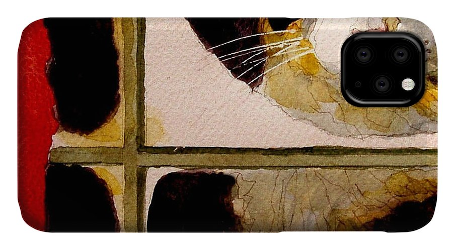 Cats IPhone Case featuring the painting Christmas Visit by Paul Lovering