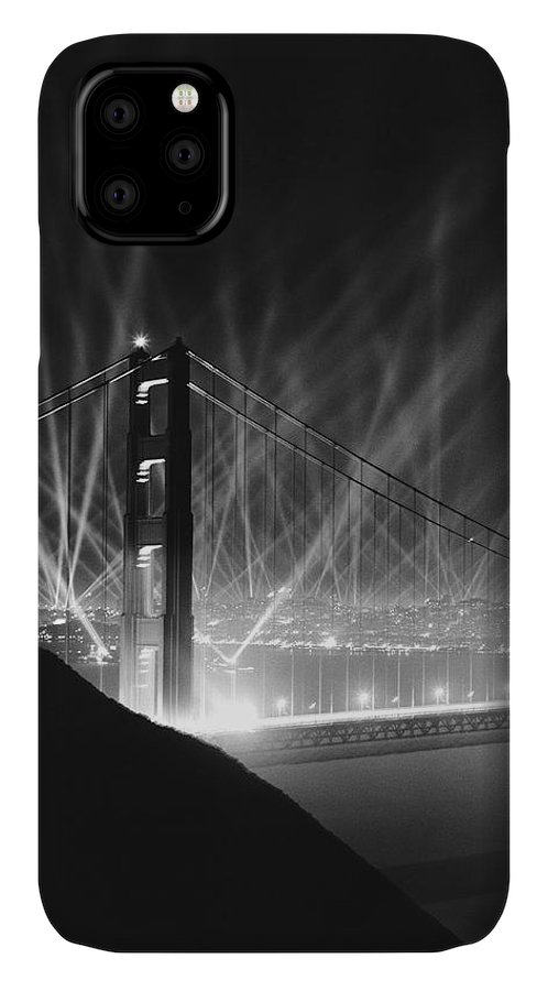 1930's IPhone Case featuring the photograph Golden Gate Bridge Opening by Underwood Archives