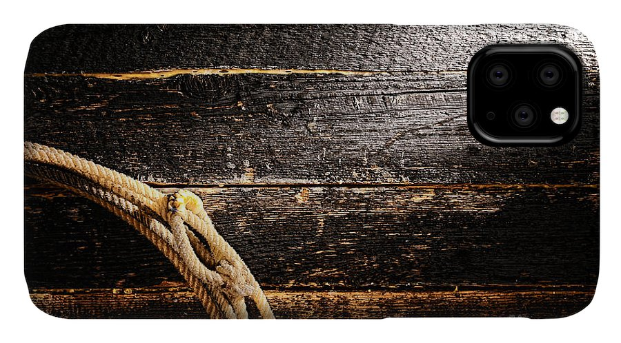 Cowboy IPhone Case featuring the photograph Grunge Lasso by Olivier Le Queinec