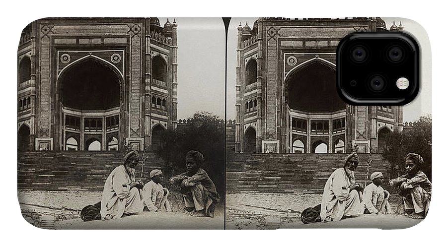 1907 IPhone 11 Case featuring the photograph India Fatehpur Sikri, C1907 by Granger