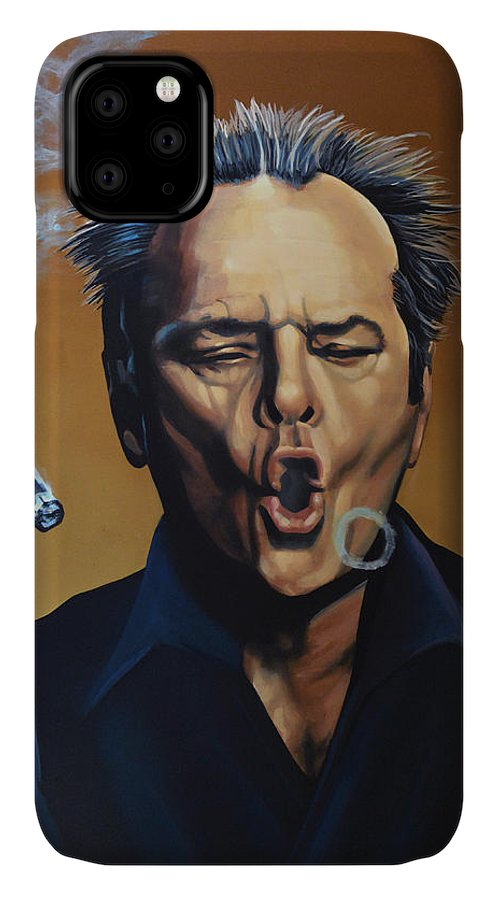 Jack Nicholson IPhone 11 Case featuring the painting Jack Nicholson Painting by Paul Meijering