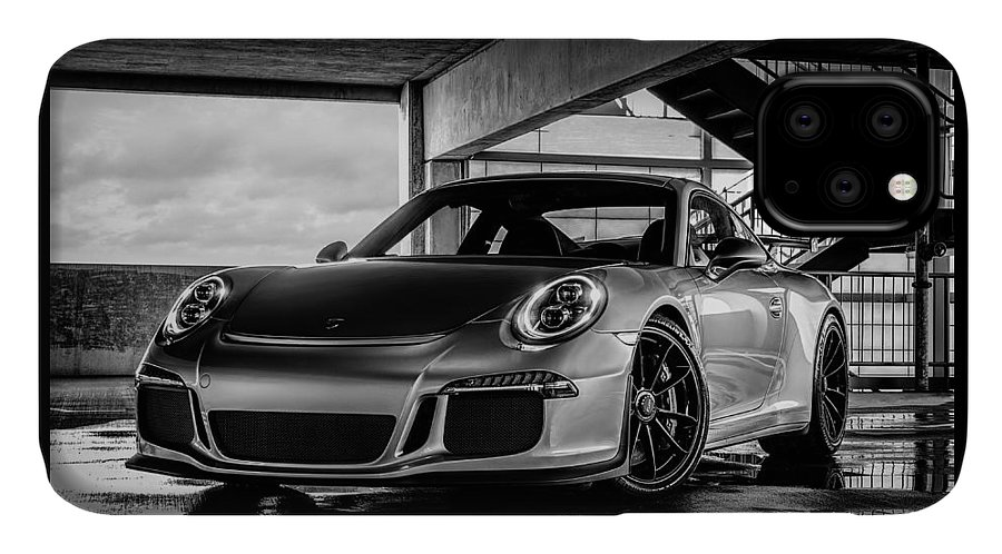 Porsche IPhone Case featuring the digital art Porsche 911 Gt3 by Douglas Pittman