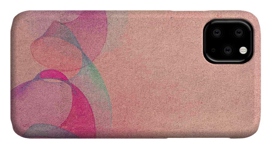 Blank IPhone 11 Case featuring the digital art Grunge Retro Vintage Paper Texture by Leksustuss