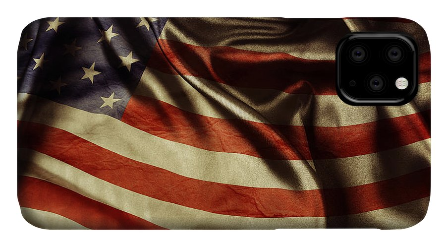 Flag IPhone Case featuring the photograph American Flag 51 by Les Cunliffe