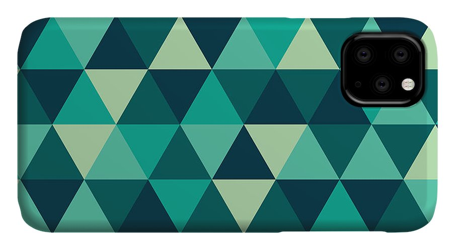 Abstract IPhone Case featuring the digital art Geometric Art by Mike Taylor