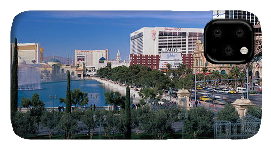 Photography IPhone Case featuring the photograph The Strip, Las Vegas, Nevada, Usa by Panoramic Images