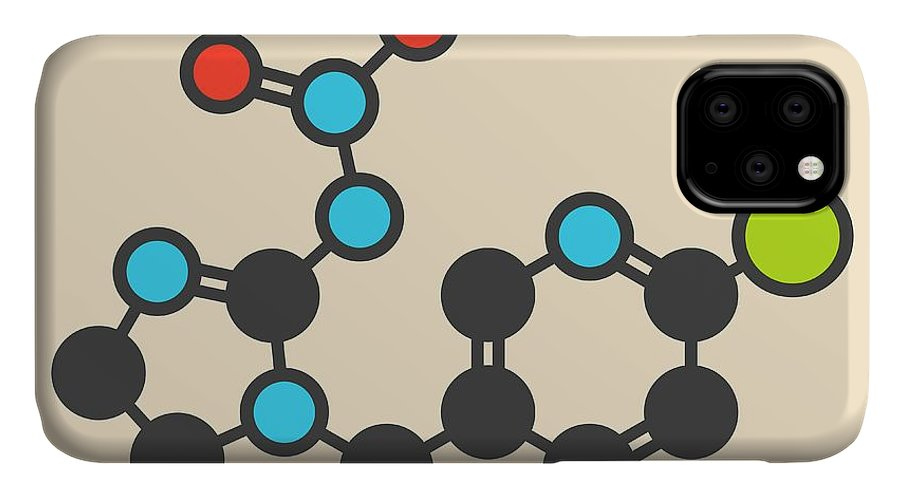 Imidacloprid IPhone Case featuring the photograph Insecticide Molecule by Molekuul