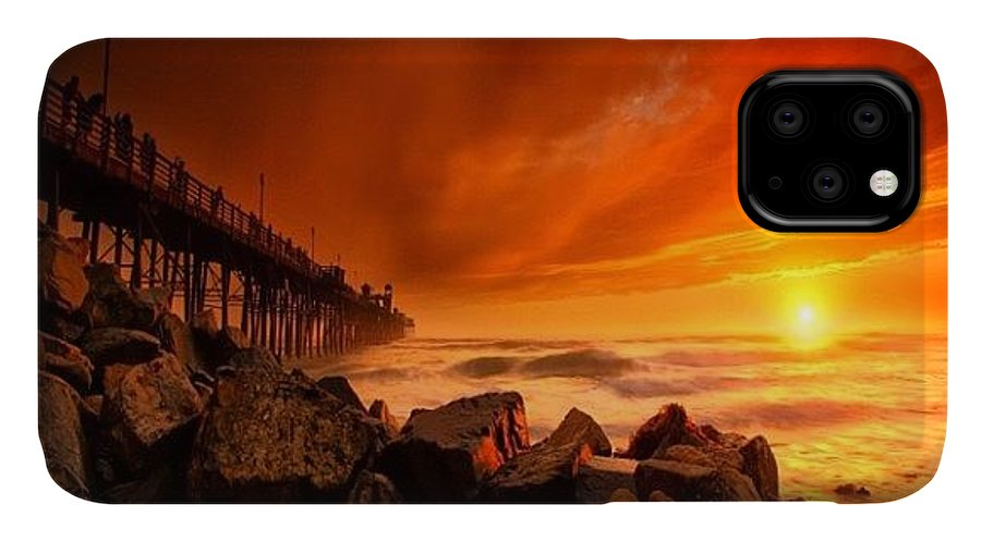 IPhone Case featuring the photograph Long Exposure Sunset At A North San by Larry Marshall