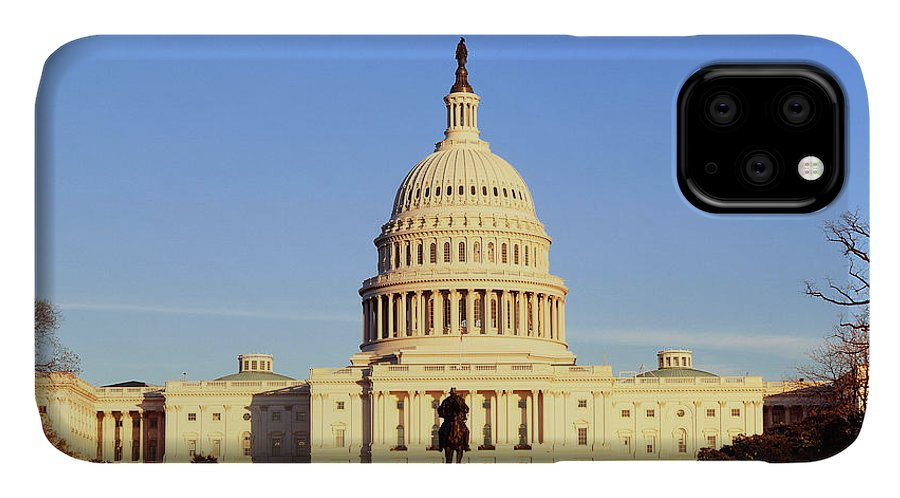 Adnt IPhone Case featuring the photograph Usa, Washington Dc, Capitol Building 6 by Walter Bibikow