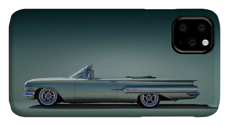 Transportation IPhone Case featuring the digital art 60 Impala Convertible by Douglas Pittman