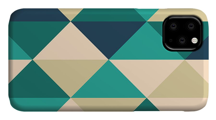 Abstract IPhone Case featuring the digital art Pixel Art by Mike Taylor