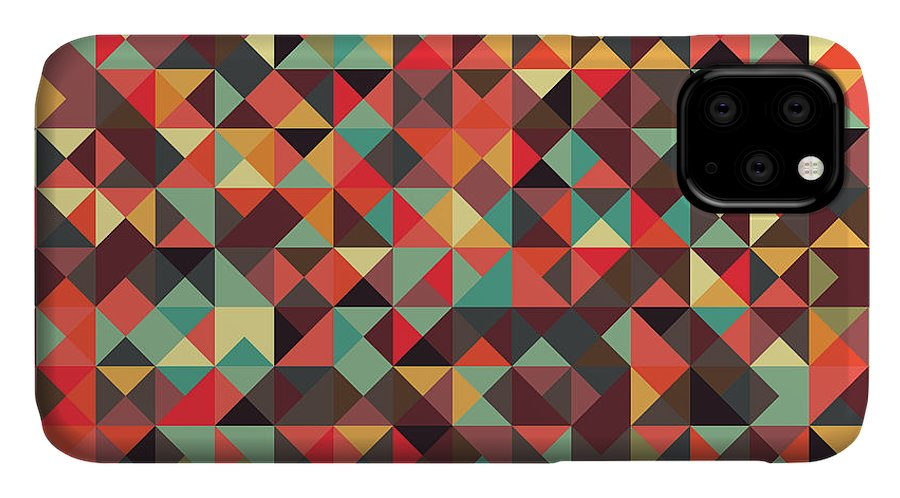 Pattern IPhone Case featuring the digital art Geometric Art by Mike Taylor