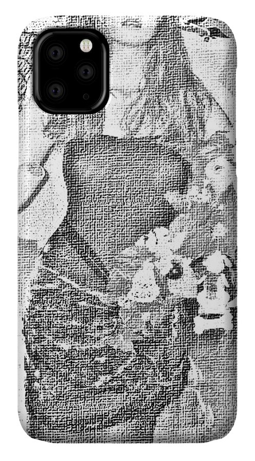 Digital IPhone Case featuring the digital art Holly by HollyWood Creation By linda zanini